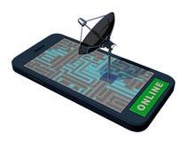 Téléphone intelligent avec l'antenne illustration stock