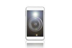 Téléphone intelligent avec l'appareil-photo Images libres de droits