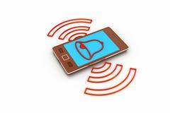 Téléphone intelligent avec le réglage des alarmes illustration de vecteur