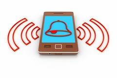 Téléphone intelligent avec le réglage des alarmes illustration libre de droits