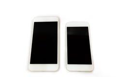 Téléphone intelligent blanc d'isolement Images stock