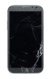 Téléphone intelligent cassé image stock