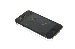 Téléphone intelligent cassé photo libre de droits