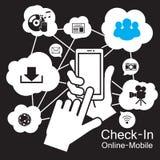 téléphone intelligent d'écran tactile, Photos libres de droits