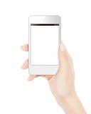 Téléphone intelligent dans la main femelle Images stock