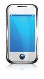Téléphone intelligent de cellules d'écran tactile Image stock