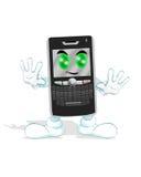 Téléphone intelligent heureux Photos libres de droits