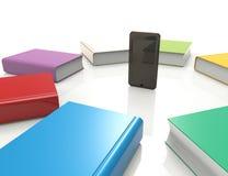 Téléphone intelligent - livres Illustration Libre de Droits