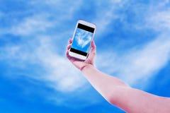 Téléphone intelligent mobile utilisant Photographie stock libre de droits