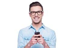 Téléphone intelligent pour les personnes futées ! Image stock