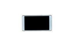 Téléphone intelligent sur le blanc Photo libre de droits