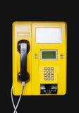 Téléphone jaune Photos stock