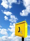 Téléphone jaune Images libres de droits