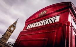 Téléphone Londres de boîte de Big Ben Photographie stock libre de droits