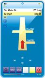 Téléphone lustré bleu avec le GPS Illustration de Vecteur