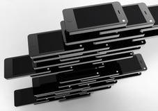 Téléphone mobile et intelligent blanc Photos stock