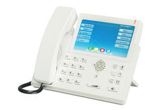 Téléphone moderne d'IP de blanc, rendu 3D Image stock