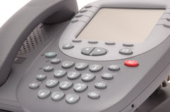 Téléphone moderne de système bureautique avec le grand écran d'affichage à cristaux liquides Photo libre de droits