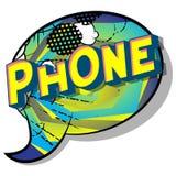 Téléphone - mots de style de bande dessinée illustration libre de droits