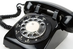 Téléphone noir Images stock