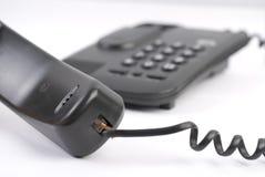 Téléphone noir Photos libres de droits