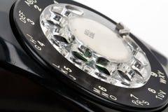 Téléphone noir Photo libre de droits