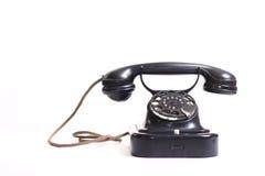 Téléphone noir démodé photos libres de droits