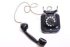 Téléphone noir démodé Photo stock