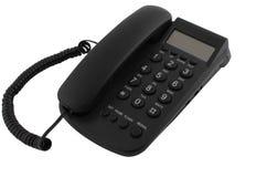 Téléphone noir de bureau Photographie stock