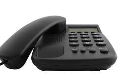 Téléphone noir de bureau Images stock