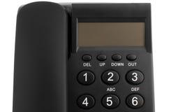 Téléphone noir de bureau Photographie stock libre de droits