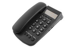 Téléphone noir de bureau Photos stock