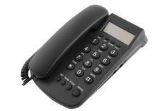 Téléphone noir de bureau Images libres de droits