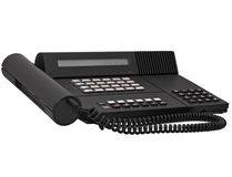 Téléphone noir de la bureautique de cru d'isolement Image libre de droits