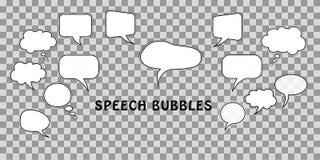 téléphone noir de récepteur de concept de transmission Placez des bulles comiques de la parole de dialogue de bande dessinée d'is illustration de vecteur