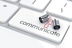 téléphone noir de récepteur de concept de transmission Images stock