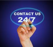 Téléphone ou courrier Image libre de droits