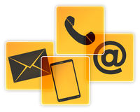 Téléphone ou courrier Images libres de droits