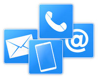 Téléphone ou courrier Photographie stock