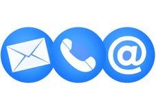 Téléphone ou courrier Photos stock