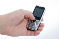 Téléphone portable à disposition Images libres de droits