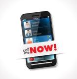 Téléphone portable - appelez-moi maintenant Image libre de droits