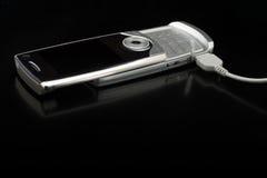 Téléphone portable argenté Image stock