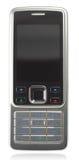 Téléphone portable argent-noir classique Image stock