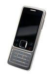 Téléphone portable argent-noir classique d'isolement avec le chemin Photographie stock libre de droits
