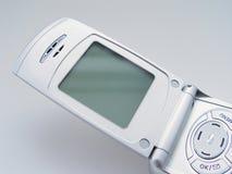 Téléphone portable avec l'écran blanc Photo libre de droits