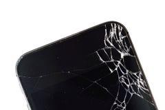 Téléphone portable avec l'affichage cassé Images stock