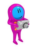 Téléphone portable avec l'appareil photo numérique Image libre de droits