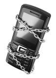 Téléphone portable avec le réseau image stock