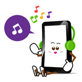 Téléphone portable, bande dessinée futée de téléphone Image libre de droits